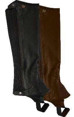 Ovation-Ladies Pro Top Grain Leather Half Chaps, black, X-Large By Ovation Ovation Womens Half Chap