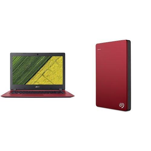 Acer Aspire 14-Inch Notebook (Intel Pentium N4200, 4 GB RAM, 64 GB eMMC, Intel HD Graphics 505, Windows 10 Home) + 1TB Seagate Backup Plus Slim External Hard Drive