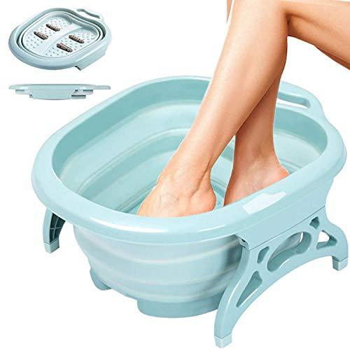 DZJ Fußbad - Faltbares Fußbad mit Fußmassagerollen - Fußbadewanne für die Fußbehandlung von Sportlern, Pediküre-Wannenset