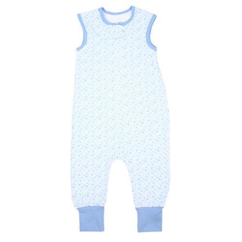 TupTam Unisex Babyschlafsack mit Beinen Unwattiert, Farbe: Sterne Blau, Größe: 92-98