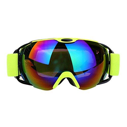 GoGou Ski/Snowboard Gogles Clear für Winter Schneesport mit Anti-Fog UV Schutz über Gläser Schutzbrillen für Männer, Frauen&Jugend - Frauen-ski-schutzbrillen Grün