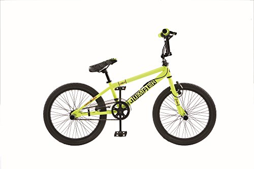 Frank Bikes 20 Zoll BMX Kinder Bike Fahrrad Rad KINDERFAHRRAD JUGENDFAHRRAD Freestyle 360° Rotor 4 Pegs Jumper GELB - Zoll Bmx Bike 20