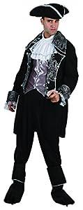 Reír Y Confeti - Ficpir027 - Para adultos traje - Deluxe Capitán Pirata Traje - Hombre - Talla XL