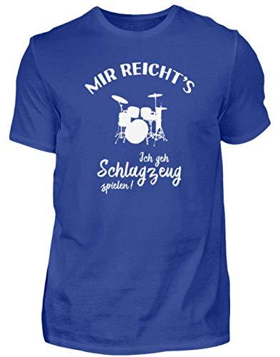 r: Ich GEH Schlagzeug Spielen! - Herren Premiumshirt -L-Royal Blau ()