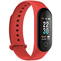 Fitness Tracker, rastreador de actividad reloj monitor de ritmo cardíaco, impermeable inteligente banda de fitness contador de pasos, contador de calorías, podómetro reloj niños mujeres hombres,Red