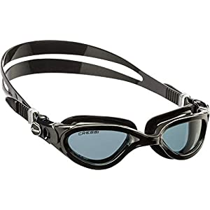Cressi Adult Flash Swimming Goggles - Black/Grey - Smoked Lens
