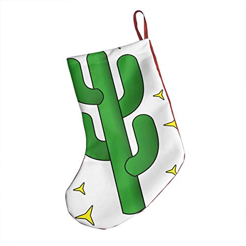 deyhfef Bling Cactus Weihnachtsstrumpf 18Inches Red Santa Xmas Socks Decoration (Cactus Converse)