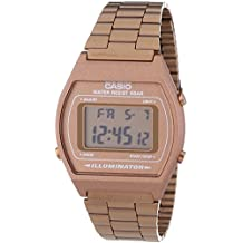 Casio Collection Reloj Digital Unisex con Correa de Acero Inoxidable – B640WC-5AEF