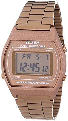 Casio Collection – Unisex-Armbanduhr mit Digital-Display und Edelstahlarmband – B640WC-5AEF