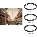 58mm Professionnel set de filtre Créatif Star (Star 4, 6, 8) lumière Filtre Etoile pour Canon Nikon Sony Olympus et les Autres Reflex Numérique avec 58mm Filetage de lentille