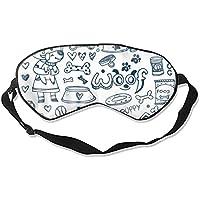 Dogs and Pets Doodles Schlafmaske, leicht, blockierend, weiche Augenbinde für Zuhause und Reisen preisvergleich bei billige-tabletten.eu