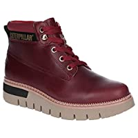 Caterpillar Pastime Womens Other Leather Material Ankle Boots Wine