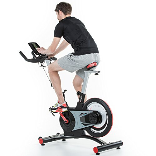 skandika SF-1860 Speed Bike Pro Fortuna, Indoor Cycle Bike mit Bluetooth, 24kg Schwungrad, 150kg Benutzergewicht, Transportrollen und Pulssensoren - 4