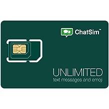 CHATSIM Unlimited - Scheda SIM Internazionale per chattare con WhatsApp e le altre ChatApp in oltre 150 paesi