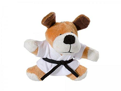 KWON DOG BEN PLÜSCH Schlüsselanhäger Mini-Plüschtiere HUND Glücksbringer Karate Judo Kickboxen Budo Kampfsport Ju Jutsu TKD Taekwonde BJJ Aikido Kick Boxen