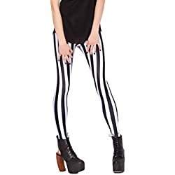 Pantalones Mujer Elegante Tallas Grandes Moda Rayas Leggins Casual Mujeres Deporte Leggings Fino