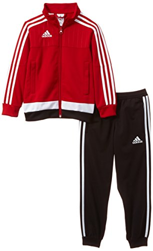 adidas Kinder Sportanzug Tiro15 pes su y, power rot/Weiß/schwarz, 164, M64051
