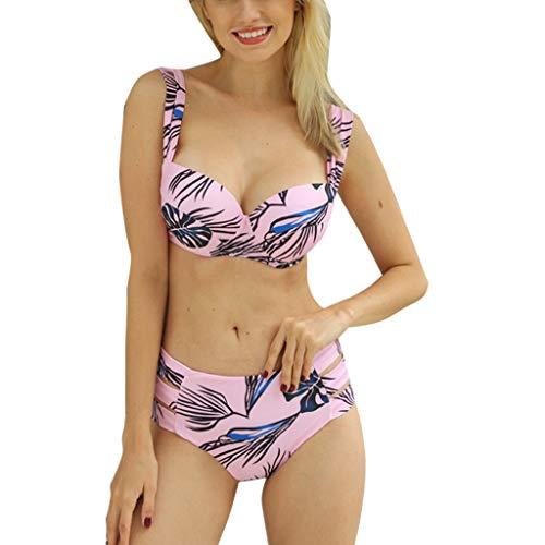 Lialbert Donne Sexy Bikini Due Pezzi Triangolo Push-Up Stampato Imbottito Costume da Bagno Mare