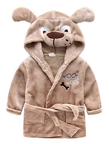 ARAUS Baby Bademantel mit Kapuzen Badetuch Tier-Design Fleece Pyjamas Säuglinge Morgenmantel 1-7 Jahre alt -