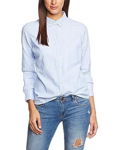 ONLY Damen Regular Fit Bluse OnlCici Oxford Shirt Noos Wvn, Gr. 42, Mehrfarbig (Blue Bell/Stripes)
