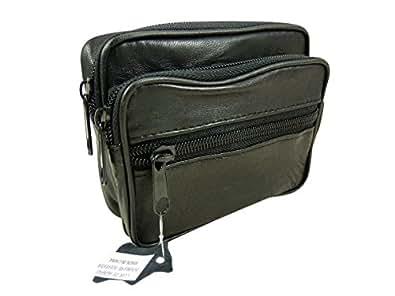 sac sacoche ceinture homme en cuir agneau noir tu chaussures et sacs. Black Bedroom Furniture Sets. Home Design Ideas