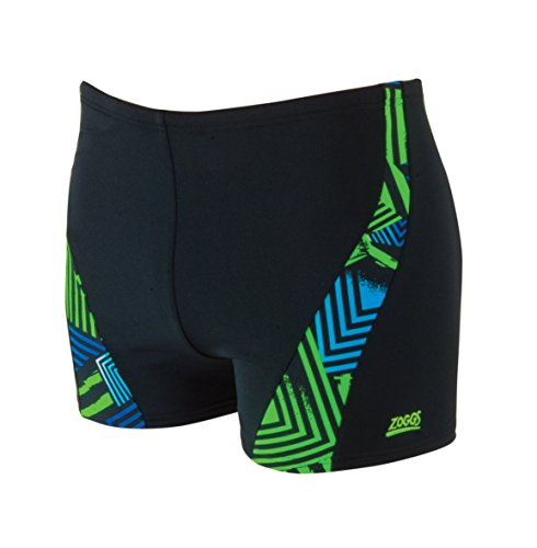 Zoggs Herren Badehose Optic Sport Spliced Hip Racer Grün/Schwarz