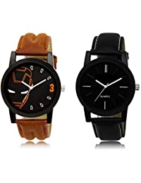 The Shopoholic Black Combo Latest Collection Fancy And Attractive Black Dial Analog Watch For Boys Stylish Watches...
