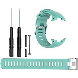 Bracelet de Rechange en Silicone pour Montre de plongée Suunto D4 D4I Novo Moderne Water Duck Color