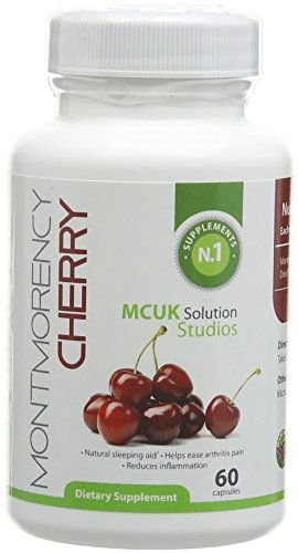 Montmorency Cherry 550milligrams 60 Caps  Powerful Antioxidant For Health and Well Being, Natural Sleeping Aid, Helps Ease Arthritis Pain, Reduces Inflammation, Super Health Food Rich in Phytonutrients Test