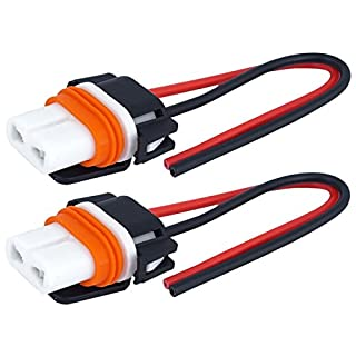 2 x HB4 ceramic lamp socket socket 12/24 V halogen LED cable 9006 car