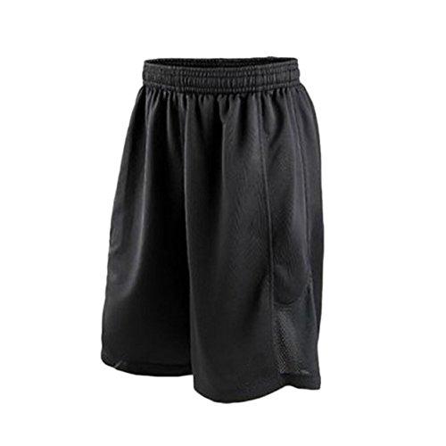 Herren Basketball Shorts Quick Dry Sport Shorts Running Gym Training Breathable Kurze Hose Schwarz 3XL
