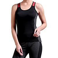 CHKOKKO Women's Racerback Active Sports Wear, Yoga and Workout Tank Top...