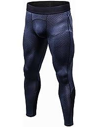 Someas Pantalons de Compression pour Hommes Collants de Sport Leggings  Collants de Sport Legging de Course Vêtements de Sport… fbdb906c857
