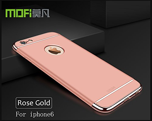 Meimeiwu Alta Qualità Ultra Sottile Leggera [Morbido tocco] Antiscivolo Duro PC Shell Slim Custodia Per iPhone 6 6S - Blu Rose Oro