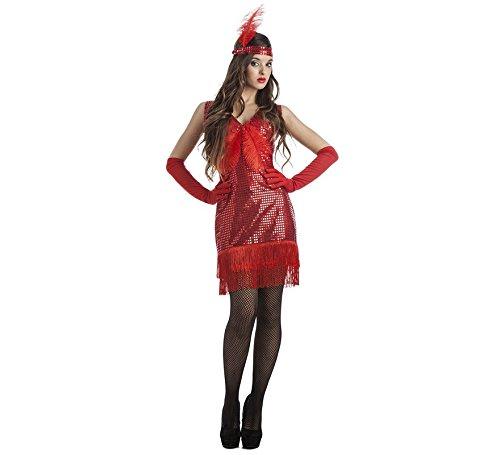 Imagen de disfraz de charlestón rojo para mujer