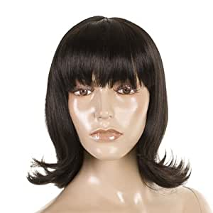 Hair By MissTresses Cute Fashion Flick 50's/ 60's Style Wig, Sandy Black