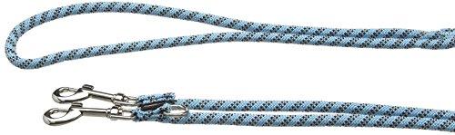 Trixie Sportliche Seil Verstellbare Hundeleine Leine, Small/Medium, Hellblau
