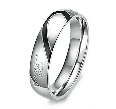 Aooaz Stainless Steel Ring Round Heart Link
