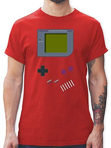 Nerds & Geeks - Gameboy - 3XL - Rot - L190 - Herren T-Shirt und Männer Tshirt