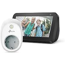 Echo Show 5, negro +TP-Link HS100 Enchufe inteligente, compatible con Alexa