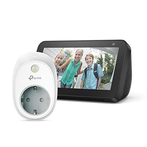 Oferta de Echo Show 5, negro +TP-Link HS100 Enchufe inteligente, compatible con Alexa