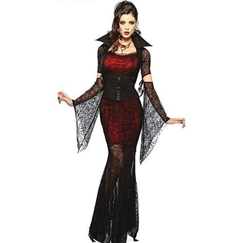 Fashion-Cos1 Halloween Sexy Hexenkostüm Frauen Schwarz Böse Hexe Vampir Kostüm Kleidung Halloween Maskerade Spielt Böse Kostüme