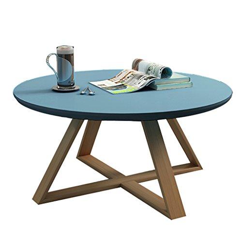 Gbf Kaffetisch stilvolle Sofa Beistelltisch/Couchtisch personalisierter runder Steintisch Bürozeitschrift Tisch/Tee Tisch stilvoll und langlebig dauerhaft (Color : Blue, Size : 70x45cm)