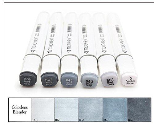6/12/30colores grises arte dibujo marcadores doble