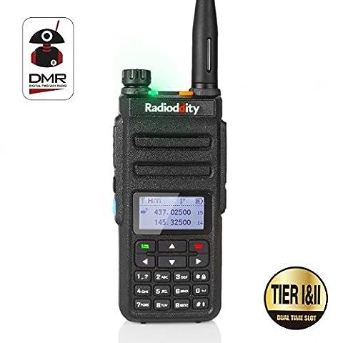 Radioddity GD-77 bi bande Dual Band DMR Talkie walkie numérique/analogique à doubles créneaux Radio bidirectionnel 1024 Canaux Radio amateur Compatible avec MOTOTRBO, Câble de programmation gratuit