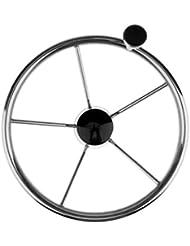 Gazechimp Volant En Acier Inoxydable Avec Bouton De Rotation Accessoire Pour Bateau