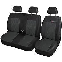 ELEGANCE (E1) (totalmente a medida) - Juego de fundas de asientos a: Fiat Ducato II BUS (3-plazas) - (2006-….)