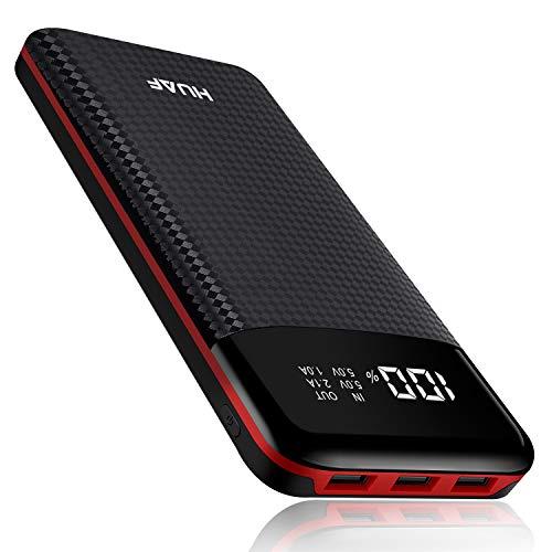 HUAF Batterie Externe Power Bank 24000mAh Portable Chargeur 3 Ports de Sortie USB avec Affichage Numérique Intelligent de...