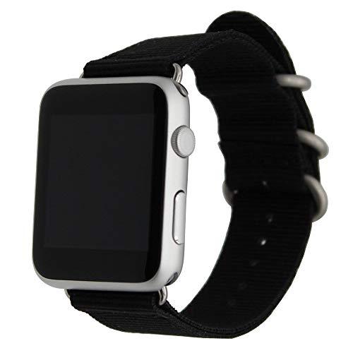 TRUMiRR Armband kompatibel mit Apple Watch Armband 42mm 44mm, Nylon Armband Ballistic NATO Gewebeband Männer Frauen Uhrenarmband für iWatch Apple Watch Series 4, Series 3, Series 2, Series 1 -