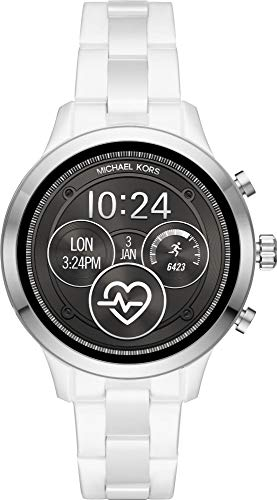 Michael Kors Damen Digital Smart Watch Armbanduhr mit Keramik Armband MKT5050